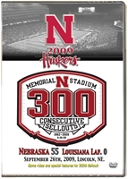 2009 Louisiana Lafayette Dvd Husker football, Nebraska cornhuskers merchandise, husker merchandise, nebraska merchandise, nebraska cornhuskers dvd, husker dvd, nebraska football dvd, nebraska cornhuskers videos, husker videos, nebraska football videos, husker game dvd, husker bowl game dvd, husker dvd subscription, nebraska cornhusker dvd subscription, husker football season on dvd, nebraska cornhuskers dvd box sets, husker dvd box sets, Nebraska Cornhuskers, 2009 Louisiana Lafayette - 300th Sellout!