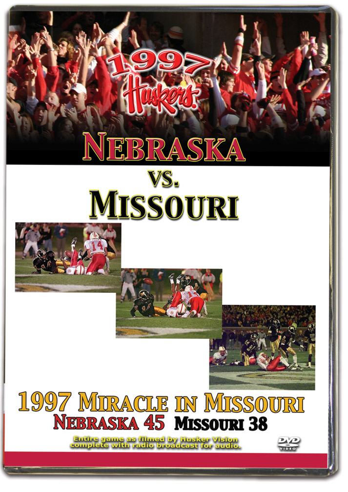 1997 Missouri Husker football, Nebraska cornhuskers merchandise, husker merchandise, nebraska merchandise, nebraska cornhuskers dvd, husker dvd, nebraska football dvd, nebraska cornhuskers videos, husker videos, nebraska football videos, husker game dvd, husker bowl game dvd, husker dvd subscription, nebraska cornhusker dvd subscription, husker football season on dvd, nebraska cornhuskers dvd box sets, husker dvd box sets, Nebraska Cornhuskers, 1997 Missouri Game on DVD