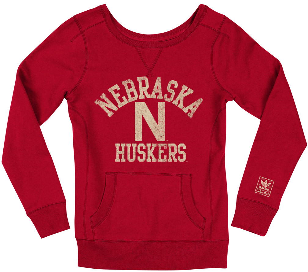 Adidas Womens Red Herbie Pullover Crew Nebraska Cornhuskers, husker football, nebraska cornhuskers merchandise, nebraska merchandise, husker merchandise, nebraska cornhuskers apparel, husker apparel, nebraska apparel, husker womens apparel, nebraska cornhuskers womens apparel, nebraska womens apparel, husker womens merchandise, nebraska cornhuskers womens merchandise, womens nebraska sweatshirt, womens husker sweatshirt, womens nebraska cornhusker sweatshirt,Adidas Womens Red Herbie Pullover Crew