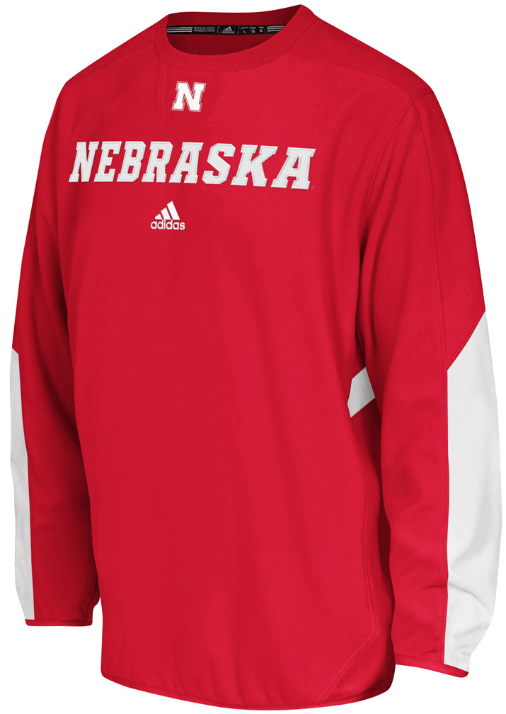 Adidas Sideline Long Sleeve Crew Nebraska Cornhuskers, husker football, nebraska cornhuskers merchandise, nebraska merchandise, husker merchandise, nebraska cornhuskers apparel, husker apparel, nebraska apparel, husker mens apparel, nebraska cornhuskers mens apparel, nebraska mens apparel, husker mens merchandise, nebraska cornhuskers mens merchandise, mens nebraska sweatshirt, mens husker sweatshirt, mens nebraska cornhusker sweatshirt,Adidas Sideline Long Sleeve Crew