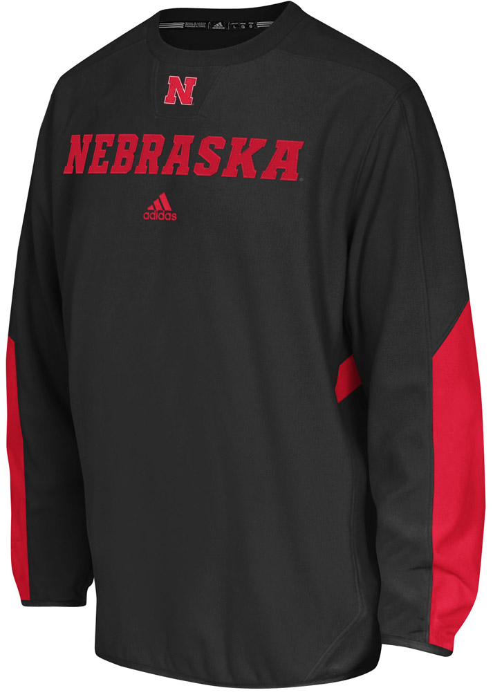 Black Adidas Sideline Long Sleeve Crew Nebraska Cornhuskers, husker football, nebraska cornhuskers merchandise, nebraska merchandise, husker merchandise, nebraska cornhuskers apparel, husker apparel, nebraska apparel, husker mens apparel, nebraska cornhuskers mens apparel, nebraska mens apparel, husker mens merchandise, nebraska cornhuskers mens merchandise, mens nebraska sweatshirt, mens husker sweatshirt, mens nebraska cornhusker sweatshirt,Black Adidas Sideline Long Sleeve Crew