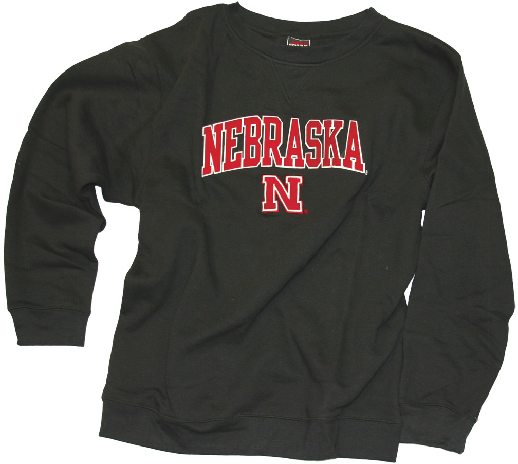 Black Fleece Crew Nebraska Cornhuskers, husker football, nebraska cornhuskers merchandise, nebraska merchandise, husker merchandise, nebraska cornhuskers apparel, husker apparel, nebraska apparel, husker mens apparel, nebraska cornhuskers mens apparel, nebraska mens apparel, husker mens merchandise, nebraska cornhuskers mens merchandise, mens nebraska sweatshirt, mens husker sweatshirt, mens nebraska cornhusker sweatshirt,Black Fleece Crew
