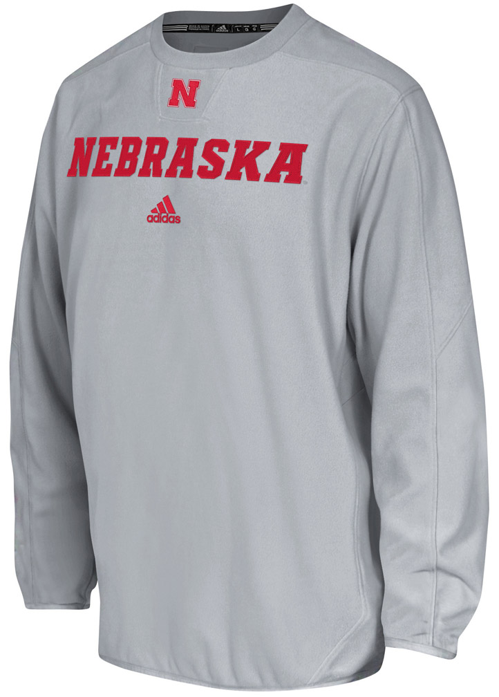Grey Adidas Sideline Long Sleeve Crew Nebraska Cornhuskers, husker football, nebraska cornhuskers merchandise, nebraska merchandise, husker merchandise, nebraska cornhuskers apparel, husker apparel, nebraska apparel, husker mens apparel, nebraska cornhuskers mens apparel, nebraska mens apparel, husker mens merchandise, nebraska cornhuskers mens merchandise, mens nebraska sweatshirt, mens husker sweatshirt, mens nebraska cornhusker sweatshirt,Grey Adidas Sideline Long Sleeve Crew