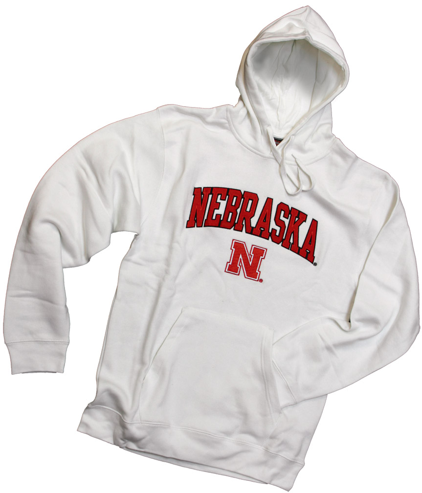 White Fleece Hoodie Nebraska Cornhuskers, husker football, nebraska cornhuskers merchandise, nebraska merchandise, husker merchandise, nebraska cornhuskers apparel, husker apparel, nebraska apparel, husker mens apparel, nebraska cornhuskers mens apparel, nebraska mens apparel, husker mens merchandise, nebraska cornhuskers mens merchandise, mens nebraska sweatshirt, mens husker sweatshirt, mens nebraska cornhusker sweatshirt,White Fleece Hoodie