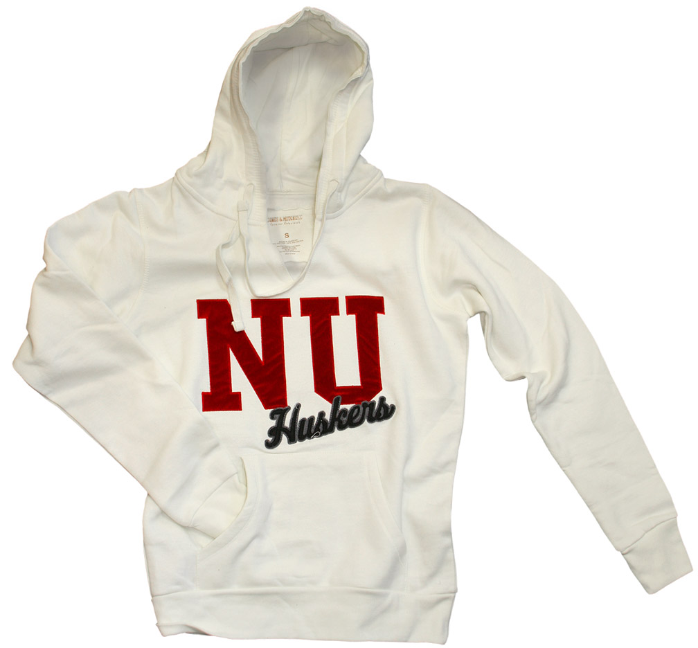 Womens Chalk Hoody With Red Velvet Nebraska Cornhuskers, husker football, nebraska cornhuskers merchandise, nebraska merchandise, husker merchandise, nebraska cornhuskers apparel, husker apparel, nebraska apparel, husker womens apparel, nebraska cornhuskers womens apparel, nebraska womens apparel, husker womens merchandise, nebraska cornhuskers womens merchandise, womens nebraska sweatshirt, womens husker sweatshirt, womens nebraska cornhusker sweatshirt,Womens Chalk Hoody With Red Velvet