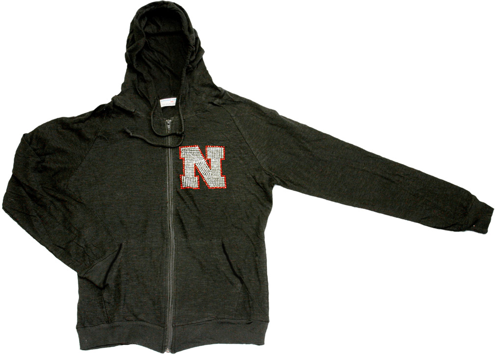 Womens Black Hooded Slub Jacket Nebraska Cornhuskers, husker football, nebraska cornhuskers merchandise, nebraska merchandise, husker merchandise, nebraska cornhuskers apparel, husker apparel, nebraska apparel, husker womens apparel, nebraska cornhuskers womens apparel, nebraska womens apparel, husker womens merchandise, nebraska cornhuskers womens merchandise, womens nebraska sweatshirt, womens husker sweatshirt, womens nebraska cornhusker sweatshirt,Womens Black Hooded Slub Jacket