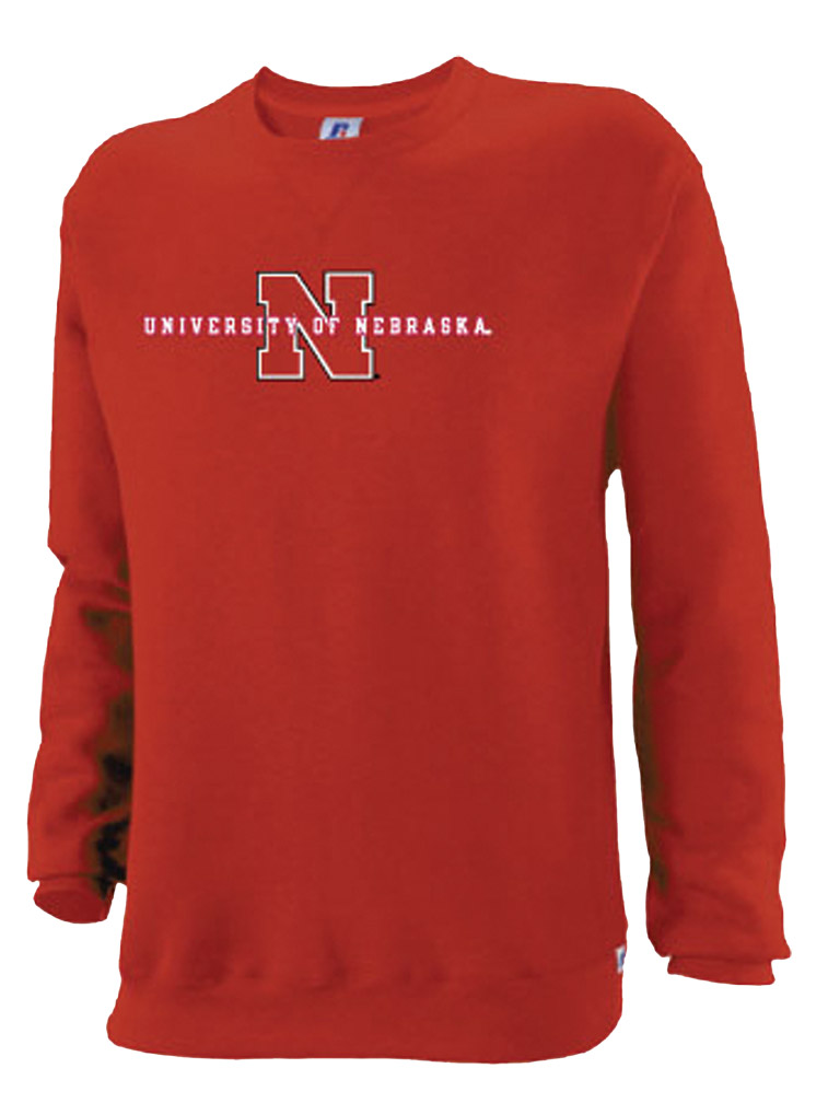 Russell University Of Nebraska Fleece Crew Nebraska Cornhuskers, husker football, nebraska cornhuskers merchandise, nebraska merchandise, husker merchandise, nebraska cornhuskers apparel, husker apparel, nebraska apparel, husker mens apparel, nebraska cornhuskers mens apparel, nebraska mens apparel, husker mens merchandise, nebraska cornhuskers mens merchandise, mens nebraska sweatshirt, mens husker sweatshirt, mens nebraska cornhusker sweatshirt,Russell University Of Nebraska Fleece Crew