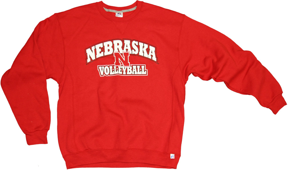 Russell Volleyball Red Fleece Crew Nebraska Cornhuskers, husker football, nebraska cornhuskers merchandise, nebraska merchandise, husker merchandise, nebraska cornhuskers apparel, husker apparel, nebraska apparel, husker womens apparel, nebraska cornhuskers womens apparel, nebraska womens apparel, husker womens merchandise, nebraska cornhuskers womens merchandise, womens nebraska sweatshirt, womens husker sweatshirt, womens nebraska cornhusker sweatshirt,Russell Volleyball Red Fleece Crew