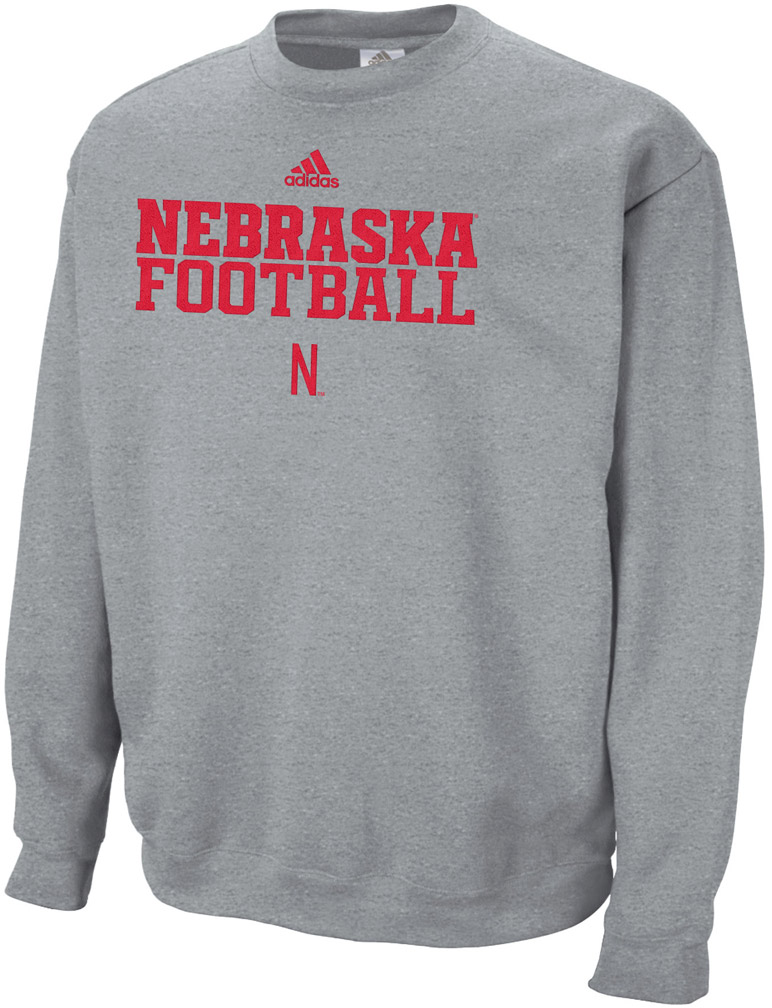 Adidas Fleece Crew Practice Stitch Nebraska Cornhuskers, husker football, nebraska cornhuskers merchandise, nebraska merchandise, husker merchandise, nebraska cornhuskers apparel, husker apparel, nebraska apparel, husker mens apparel, nebraska cornhuskers mens apparel, nebraska mens apparel, husker mens merchandise, nebraska cornhuskers mens merchandise, mens nebraska sweatshirt, mens husker sweatshirt, mens nebraska cornhusker sweatshirt,Adidas Fleece Crew Practice Stitch
