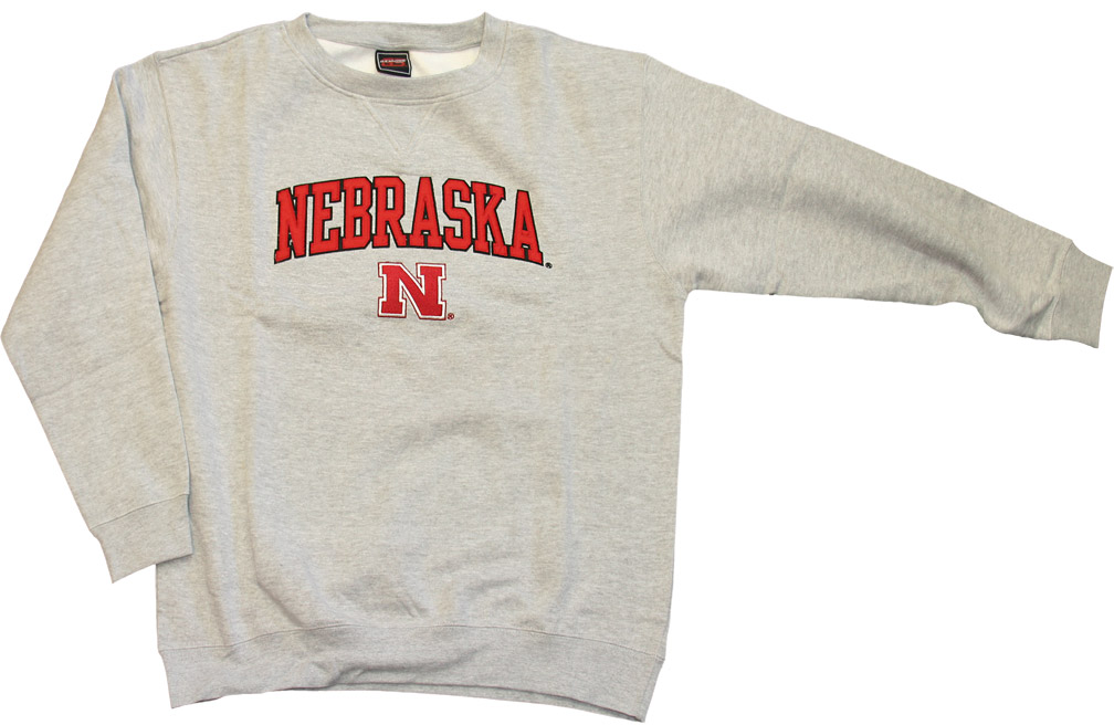 Gray Fleece Crew Nebraska Cornhuskers, husker football, nebraska cornhuskers merchandise, nebraska merchandise, husker merchandise, nebraska cornhuskers apparel, husker apparel, nebraska apparel, husker mens apparel, nebraska cornhuskers mens apparel, nebraska mens apparel, husker mens merchandise, nebraska cornhuskers mens merchandise, mens nebraska sweatshirt, mens husker sweatshirt, mens nebraska cornhusker sweatshirt,Gray Fleece Crew