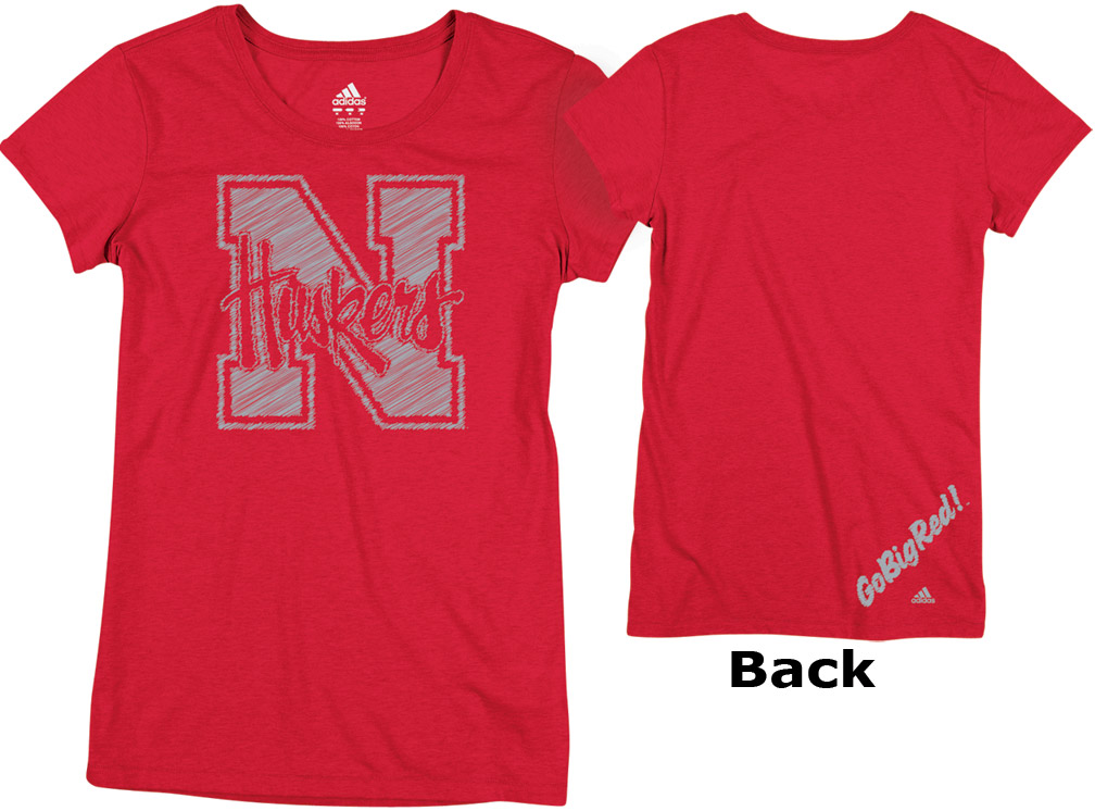 LADIES ADIDAS RED N HUSKERS FOIL TEE Nebraska Cornhuskers, husker football, nebraska cornhuskers merchandise, nebraska merchandise, husker merchandise, nebraska cornhuskers apparel, husker apparel, nebraska apparel, husker womens apparel, nebraska cornhuskers womens apparel, nebraska womens apparel, husker womens merchandise, nebraska cornhuskers womens merchandise, womens nebraska t shirt, womens husker t shirt, womens nebraska cornhusker t shirt,LADIES ADIDAS RED N HUSKERS FOIL TEE