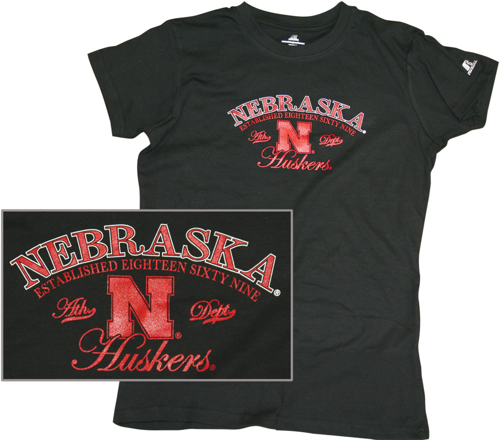 LADIES BLACK ATHLETIC DEPT. TEE Nebraska Cornhuskers, husker football, nebraska cornhuskers merchandise, nebraska merchandise, husker merchandise, nebraska cornhuskers apparel, husker apparel, nebraska apparel, husker womens apparel, nebraska cornhuskers womens apparel, nebraska womens apparel, husker womens merchandise, nebraska cornhuskers womens merchandise, womens nebraska t shirt, womens husker t shirt, womens nebraska cornhusker t shirt,LADIES BLACK ATHLETIC DEPT. TEE