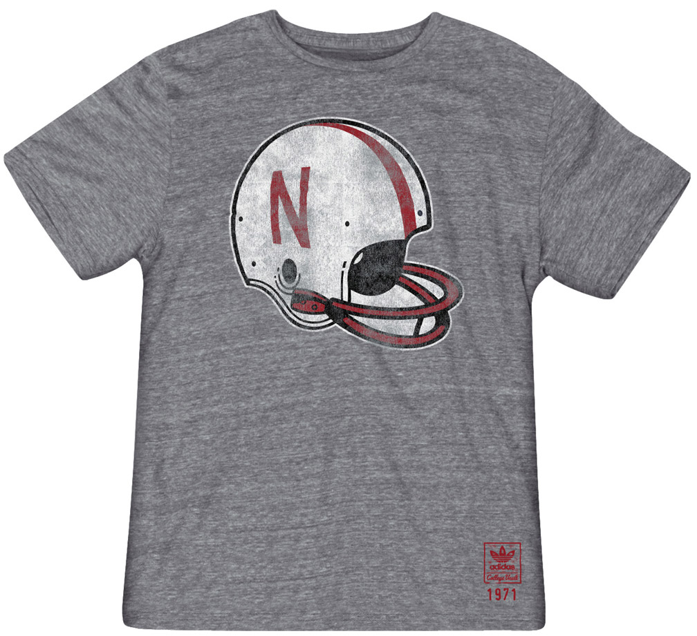 Adidas Big Retro Helmet T-shirt Nebraska Cornhuskers, husker football, nebraska cornhuskers merchandise, nebraska merchandise, husker merchandise, nebraska cornhuskers apparel, husker apparel, nebraska apparel, husker mens apparel, nebraska cornhuskers mens apparel, nebraska mens apparel, husker mens merchandise, nebraska cornhuskers mens merchandise, mens nebraska t shirt, mens husker t shirt, mens nebraska cornhusker t shirt,Adidas Big Retro Helmet T-shirt