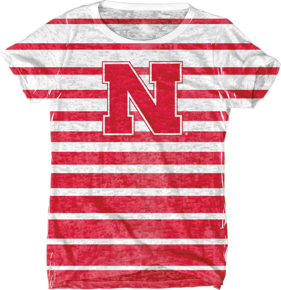 Womens Sublimation Burnout White T-shirt Nebraska Cornhuskers, husker football, nebraska cornhuskers merchandise, nebraska merchandise, husker merchandise, nebraska cornhuskers apparel, husker apparel, nebraska apparel, husker womens apparel, nebraska cornhuskers womens apparel, nebraska womens apparel, husker womens merchandise, nebraska cornhuskers womens merchandise, womens nebraska t shirt, womens husker t shirt, womens nebraska cornhusker t shirt,Womens Sublimation Burnout White T-shirt