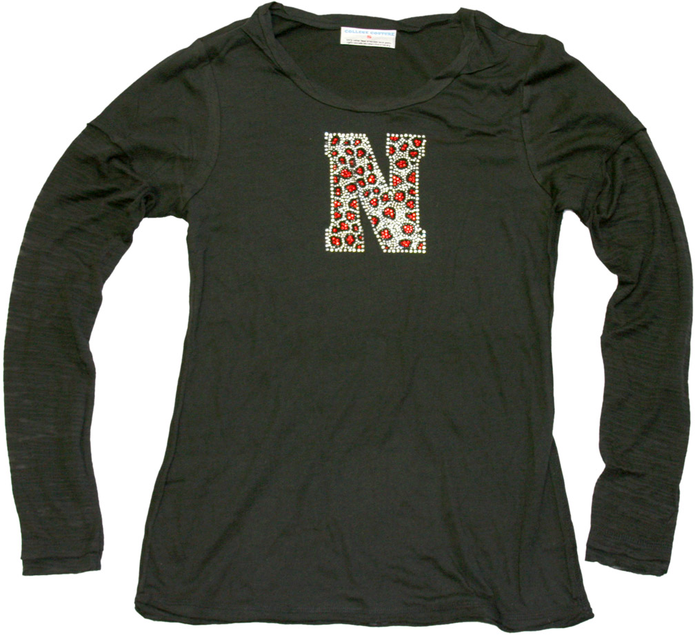 Juniors Long Sleeved Black Burnout T-shirt Nebraska Cornhuskers, husker football, nebraska cornhuskers merchandise, nebraska merchandise, husker merchandise, nebraska cornhuskers apparel, husker apparel, nebraska apparel, husker womens apparel, nebraska cornhuskers womens apparel, nebraska womens apparel, husker womens merchandise, nebraska cornhuskers womens merchandise, womens nebraska t shirt, womens husker t shirt, womens nebraska cornhusker t shirt,Juniors Long Sleeved Black Burnout T-shirt