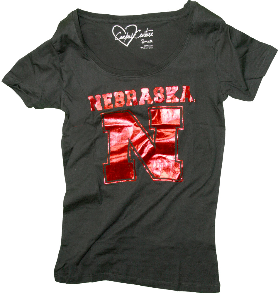 Womens Junior Scoop Neck Iron N T-shirt Nebraska Cornhuskers, husker football, nebraska cornhuskers merchandise, nebraska merchandise, husker merchandise, nebraska cornhuskers apparel, husker apparel, nebraska apparel, husker womens apparel, nebraska cornhuskers womens apparel, nebraska womens apparel, husker womens merchandise, nebraska cornhuskers womens merchandise, womens nebraska t shirt, womens husker t shirt, womens nebraska cornhusker t shirt,Womens Junior Scoop Neck Iron N T-shirt