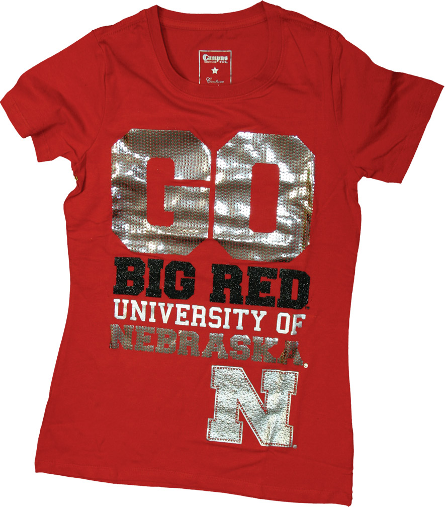 Womens Junior Go Red T-shirt Nebraska Cornhuskers, husker football, nebraska cornhuskers merchandise, nebraska merchandise, husker merchandise, nebraska cornhuskers apparel, husker apparel, nebraska apparel, husker womens apparel, nebraska cornhuskers womens apparel, nebraska womens apparel, husker womens merchandise, nebraska cornhuskers womens merchandise, womens nebraska t shirt, womens husker t shirt, womens nebraska cornhusker t shirt,Womens Junior Go Red T-shirt