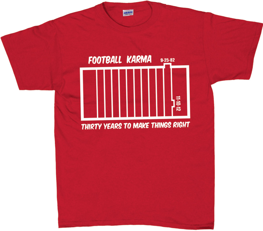 Football Karma T-Shirt Nebraska cornhuskers, husker football, nebraska cornhusker merchandise, nebraska cornhuskers apparel, husker merchandise, husker apparel, husker t-shirt, husker gear, nebraska cornhuskers gear, nebraska cornhuskers t-shirt, mens husker shirt, mens nebraska t-shirt, huskers short sleeve t-shirt