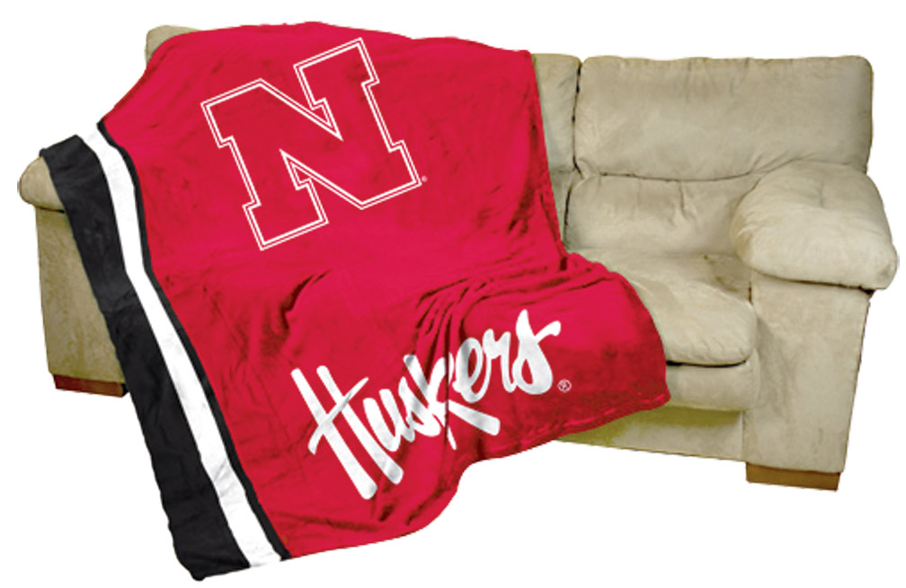 Logo Chair Ultra Soft Blanket Red Nebraska Cornhuskers, Logo Chair Ultra Soft Blanket Red