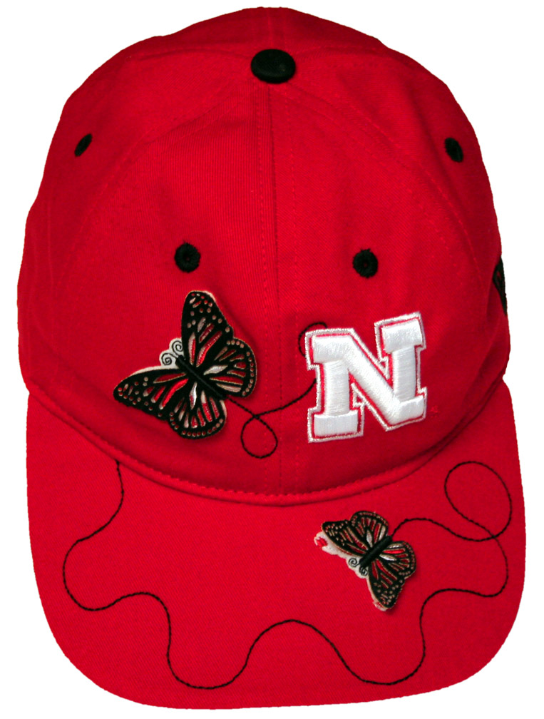 Butterfly Cap Nebraska Cornhuskers, husker football, nebraska cornhuskers merchandise, nebraska merchandise, husker merchandise, nebraska cornhuskers apparel, husker apparel, nebraska apparel, husker childrens apparel, nebraska cornhuskers childrens apparel, nebraska kids apparel, husker kids apparel, husker kids merchandise, nebraska cornhuskers kids merchandise,Butterfly Cap