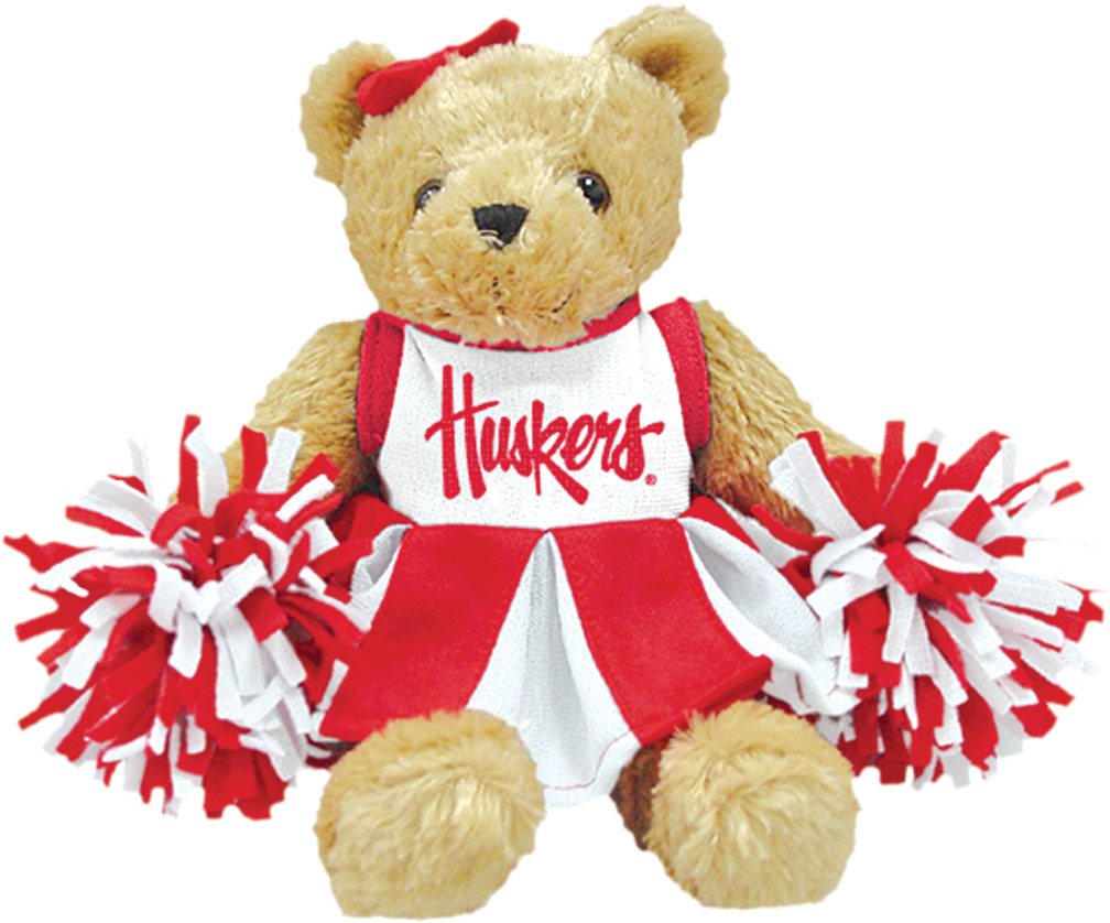 HUSKER CHEER BEAR Nebraska Cornhuskers, husker football, nebraska cornhuskers merchandise, nebraska merchandise, husker merchandise, nebraska cornhuskers apparel, husker apparel, nebraska apparel, husker childrens apparel, nebraska cornhuskers childrens apparel, nebraska kids apparel, husker kids apparel, husker kids merchandise, nebraska cornhuskers kids merchandise,HUSKER CHEER BEAR