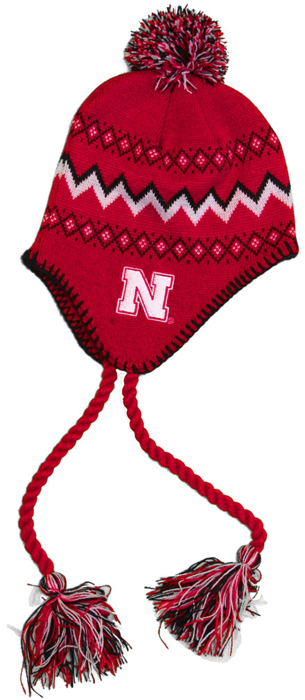 Toddler Tassel Knit With Pom Nebraska Cornhuskers, husker football, nebraska cornhuskers merchandise, nebraska merchandise, husker merchandise, nebraska cornhuskers apparel, husker apparel, nebraska apparel, husker childrens apparel, nebraska cornhuskers childrens apparel, nebraska kids apparel, husker kids apparel, husker kids merchandise, nebraska cornhuskers kids merchandise,Toddler Tassel Knit With Pom