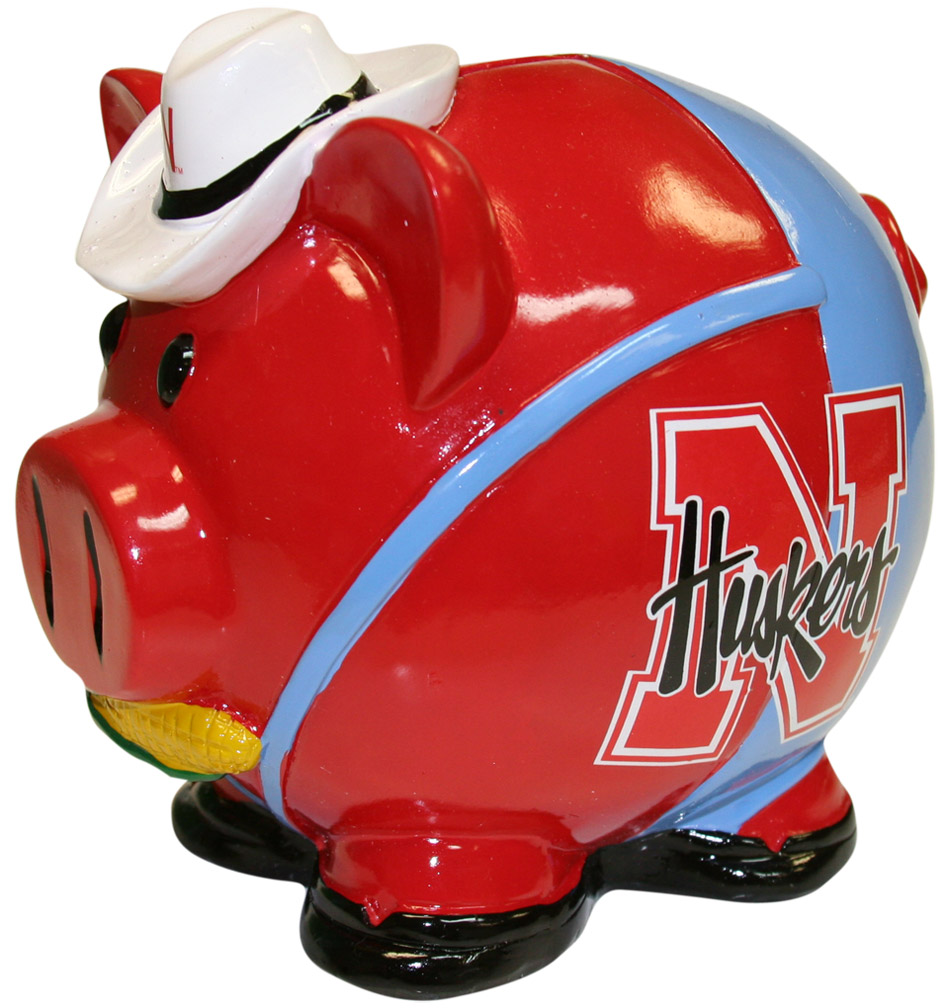 Cowboy Hat Piggy Bank Nebraska Cornhuskers, husker football, nebraska cornhuskers merchandise, nebraska merchandise, husker merchandise, nebraska cornhuskers apparel, husker apparel, nebraska apparel, husker childrens apparel, nebraska cornhuskers childrens apparel, nebraska kids apparel, husker kids apparel, husker kids merchandise, nebraska cornhuskers kids merchandise,Cowboy Hat Piggy Bank