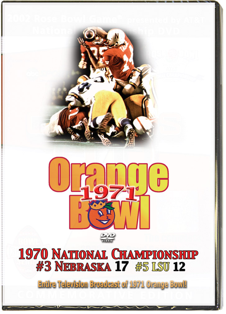 1971 Orange Bowl TV Broadcast Husker football, Nebraska cornhuskers merchandise, husker merchandise, nebraska merchandise, nebraska cornhuskers dvd, husker dvd, nebraska football dvd, nebraska cornhuskers videos, husker videos, nebraska football videos, husker game dvd, husker bowl game dvd, husker dvd subscription, nebraska cornhusker dvd subscription, husker football season on dvd, nebraska cornhuskers dvd box sets, husker dvd box sets, Nebraska Cornhuskers, 1971 Orange Bowl TV Broadcast