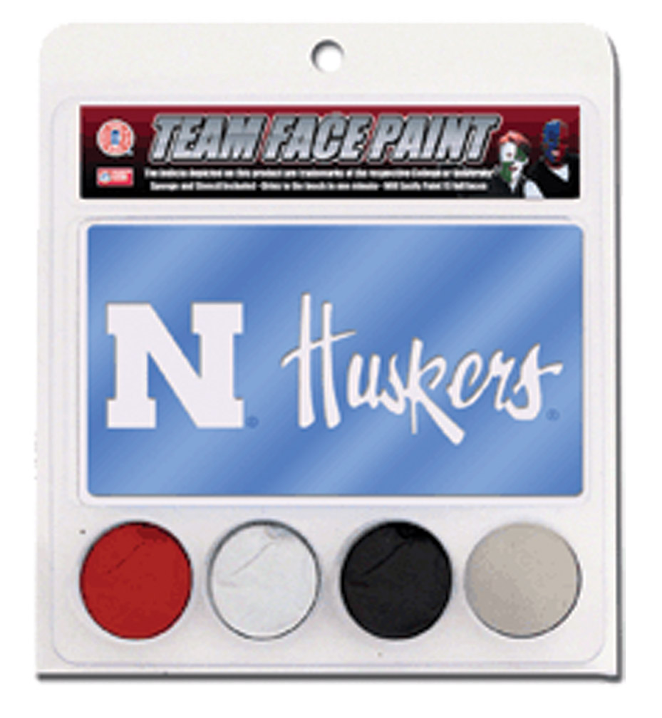 Face Paint Kit Nebraska Cornhuskers, Face Paint Kit