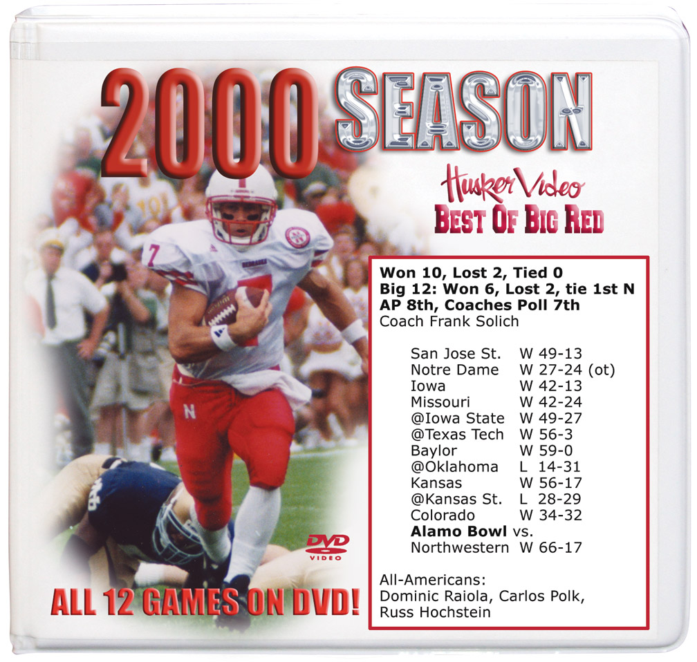 2000 Complete Season on DVD Husker football, Nebraska cornhuskers merchandise, husker merchandise, nebraska merchandise, nebraska cornhuskers dvd, husker dvd, nebraska football dvd, nebraska cornhuskers videos, husker videos, nebraska football videos, husker game dvd, husker bowl game dvd, husker dvd subscription, nebraska cornhusker dvd subscription, husker football season on dvd, nebraska cornhuskers dvd box sets, husker dvd box sets, Nebraska Cornhuskers, 2000 Complete Season on DVD