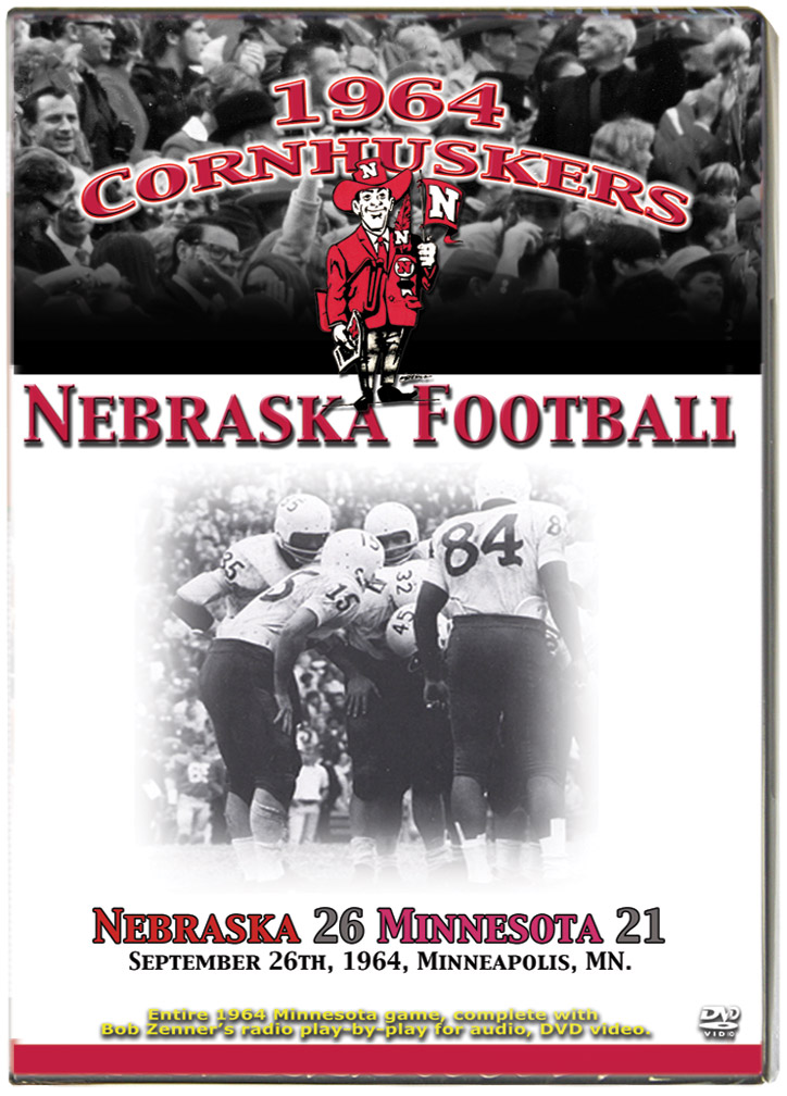 1964 Huskers vs Minnesota Golden Gophers Husker football, Nebraska cornhuskers merchandise, husker merchandise, nebraska merchandise, nebraska cornhuskers dvd, husker dvd, nebraska football dvd, nebraska cornhuskers videos, husker videos, nebraska football videos, husker game dvd, husker bowl game dvd, husker dvd subscription, nebraska cornhusker dvd subscription, husker football season on dvd, nebraska cornhuskers dvd box sets, husker dvd box sets, Nebraska Cornhuskers, 1964 Minnesota