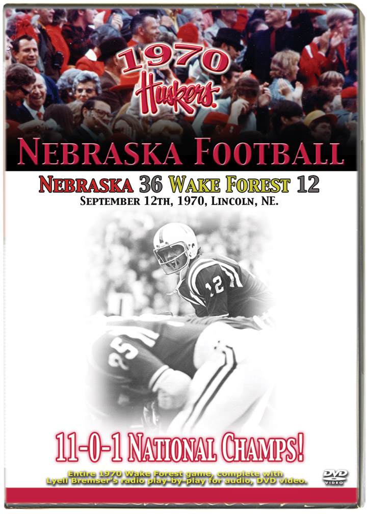 1970 Huskers vs Wake Forest Demon Deacons Husker football, Nebraska cornhuskers merchandise, husker merchandise, nebraska merchandise, nebraska cornhuskers dvd, husker dvd, nebraska football dvd, nebraska cornhuskers videos, husker videos, nebraska football videos, husker game dvd, husker bowl game dvd, husker dvd subscription, nebraska cornhusker dvd subscription, husker football season on dvd, nebraska cornhuskers dvd box sets, husker dvd box sets, Nebraska Cornhuskers, 1970 Wake Forest