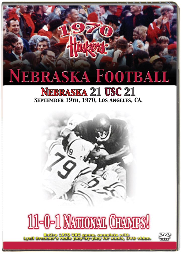 1970 Huskers vs USC Trojans Husker football, Nebraska cornhuskers merchandise, husker merchandise, nebraska merchandise, nebraska cornhuskers dvd, husker dvd, nebraska football dvd, nebraska cornhuskers videos, husker videos, nebraska football videos, husker game dvd, husker bowl game dvd, husker dvd subscription, nebraska cornhusker dvd subscription, husker football season on dvd, nebraska cornhuskers dvd box sets, husker dvd box sets, Nebraska Cornhuskers, 1970 USC