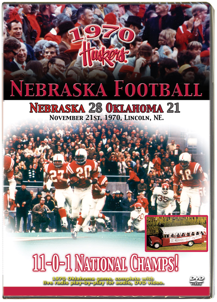 1970 Huskers vs Oklahoma Sooners Husker football, Nebraska cornhuskers merchandise, husker merchandise, nebraska merchandise, nebraska cornhuskers dvd, husker dvd, nebraska football dvd, nebraska cornhuskers videos, husker videos, nebraska football videos, husker game dvd, husker bowl game dvd, husker dvd subscription, nebraska cornhusker dvd subscription, husker football season on dvd, nebraska cornhuskers dvd box sets, husker dvd box sets, Nebraska Cornhuskers, 1970 Oklahoma