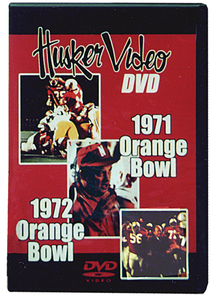 1971 and 1972 Orange Bowls Husker football, Nebraska cornhuskers merchandise, husker merchandise, nebraska merchandise, nebraska cornhuskers dvd, husker dvd, nebraska football dvd, nebraska cornhuskers videos, husker videos, nebraska football videos, husker game dvd, husker bowl game dvd, husker dvd subscription, nebraska cornhusker dvd subscription, husker football season on dvd, nebraska cornhuskers dvd box sets, husker dvd box sets, Nebraska Cornhuskers, 1971 & 1972 Orange Bowls