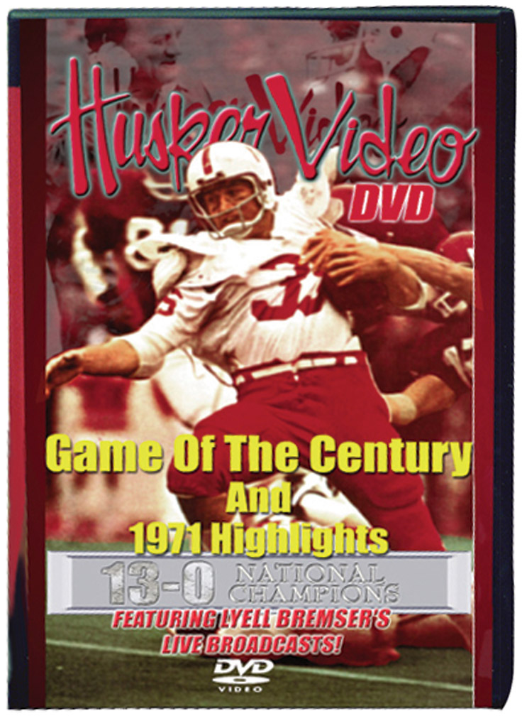 Game of Century with Bremser Husker football, Nebraska cornhuskers merchandise, husker merchandise, nebraska merchandise, nebraska cornhuskers dvd, husker dvd, nebraska football dvd, nebraska cornhuskers videos, husker videos, nebraska football videos, husker game dvd, husker bowl game dvd, husker dvd subscription, nebraska cornhusker dvd subscription, husker football season on dvd, nebraska cornhuskers dvd box sets, husker dvd box sets, Nebraska Cornhuskers, Game of Century with Bremser
