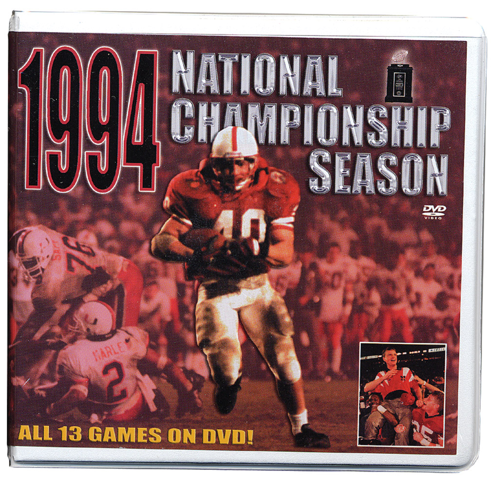 1994 Championship Season DVD Box Set Husker football, Nebraska cornhuskers merchandise, husker merchandise, nebraska merchandise, nebraska cornhuskers dvd, husker dvd, nebraska football dvd, nebraska cornhuskers videos, husker videos, nebraska football videos, husker game dvd, husker bowl game dvd, husker dvd subscription, nebraska cornhusker dvd subscription, husker football season on dvd, nebraska cornhuskers dvd box sets, husker dvd box sets, Nebraska Cornhuskers, 1994 Championship Season DVD Box Set