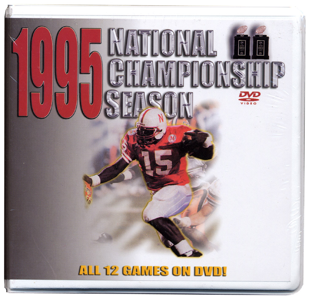 1995 Championship Season DVD Box Set Husker football, Nebraska cornhuskers merchandise, husker merchandise, nebraska merchandise, nebraska cornhuskers dvd, husker dvd, nebraska football dvd, nebraska cornhuskers videos, husker videos, nebraska football videos, husker game dvd, husker bowl game dvd, husker dvd subscription, nebraska cornhusker dvd subscription, husker football season on dvd, nebraska cornhuskers dvd box sets, husker dvd box sets, Nebraska Cornhuskers, 1995 Championship Season DVD Box Set