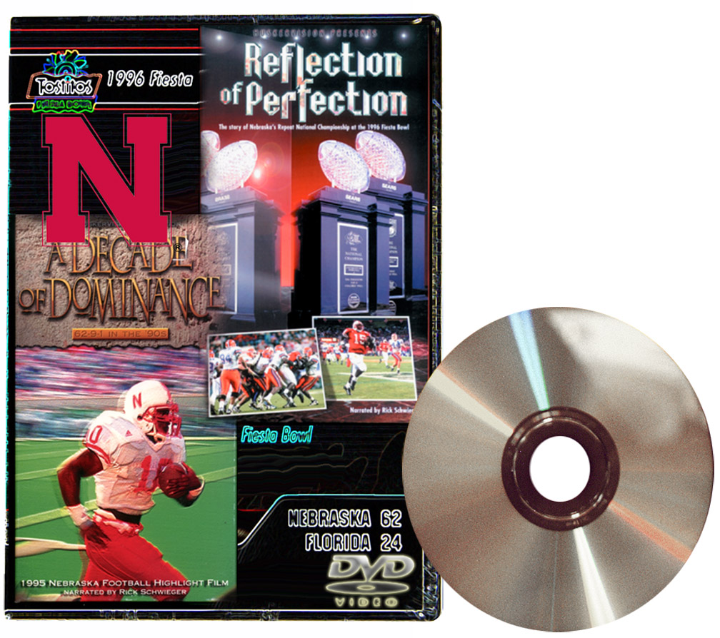 1995 Highlights DVD Husker football, Nebraska cornhuskers merchandise, husker merchandise, nebraska merchandise, nebraska cornhuskers dvd, husker dvd, nebraska football dvd, nebraska cornhuskers videos, husker videos, nebraska football videos, husker game dvd, husker bowl game dvd, husker dvd subscription, nebraska cornhusker dvd subscription, husker football season on dvd, nebraska cornhuskers dvd box sets, husker dvd box sets, Nebraska Cornhuskers, 1995 Highlights DVD