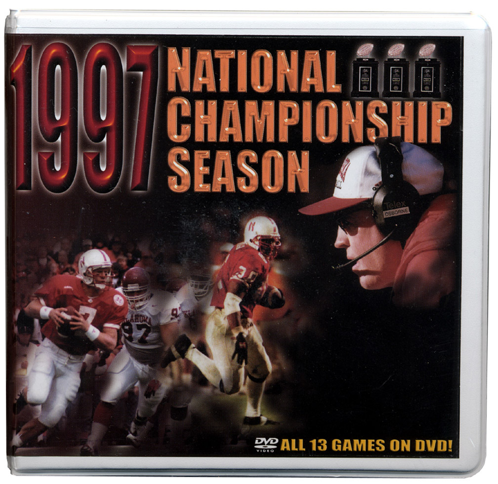 1997 Championship Season DVD Box Set Husker football, Nebraska cornhuskers merchandise, husker merchandise, nebraska merchandise, nebraska cornhuskers dvd, husker dvd, nebraska football dvd, nebraska cornhuskers videos, husker videos, nebraska football videos, husker game dvd, husker bowl game dvd, husker dvd subscription, nebraska cornhusker dvd subscription, husker football season on dvd, nebraska cornhuskers dvd box sets, husker dvd box sets, Nebraska Cornhuskers, 1997 Championship Season DVD Box Set