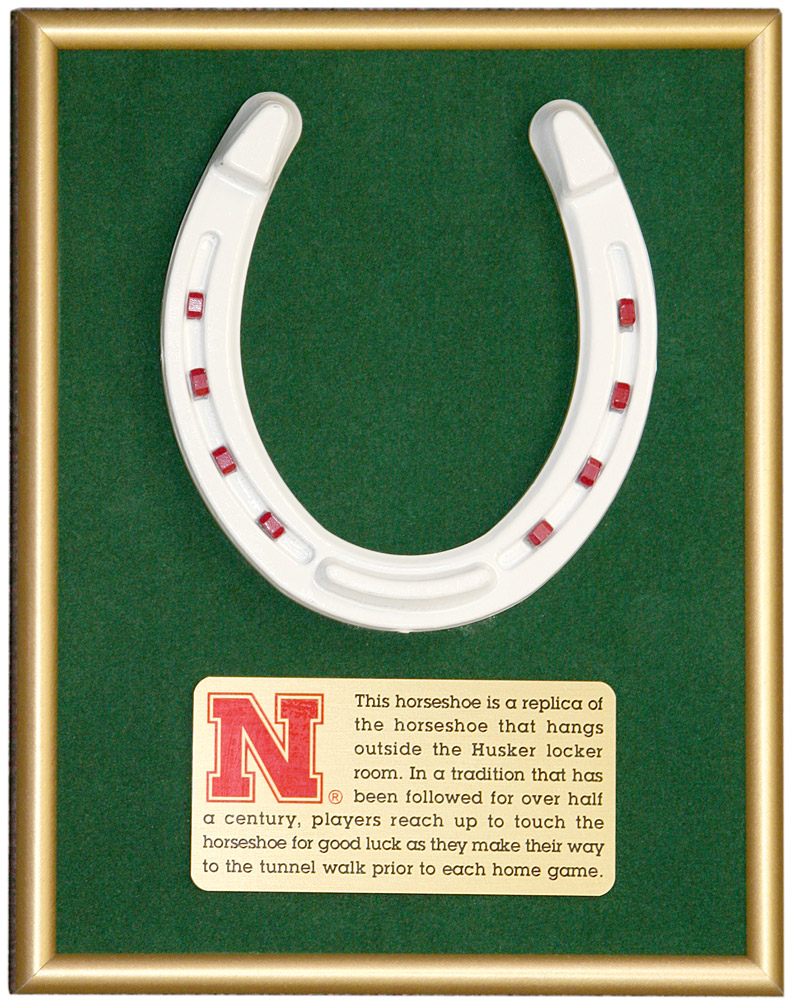 Horseshoe Frame/Plaque Nebraska Cornhuskers, Horseshoe Frame/Plaque