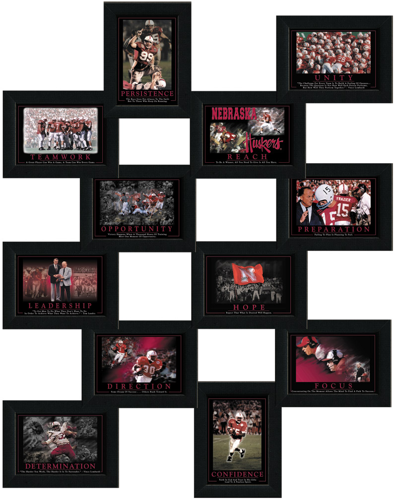All 12 Husker Inspirational Plaques! Nebraska Cornhuskers, All 12 Husker Inspirational Plaques!