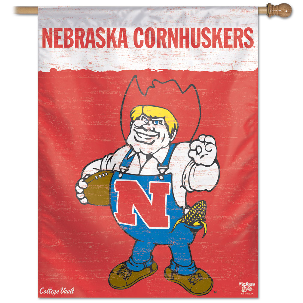 Old School Herbie Banner Nebraska Cornhuskers, Old School Herbie Banner