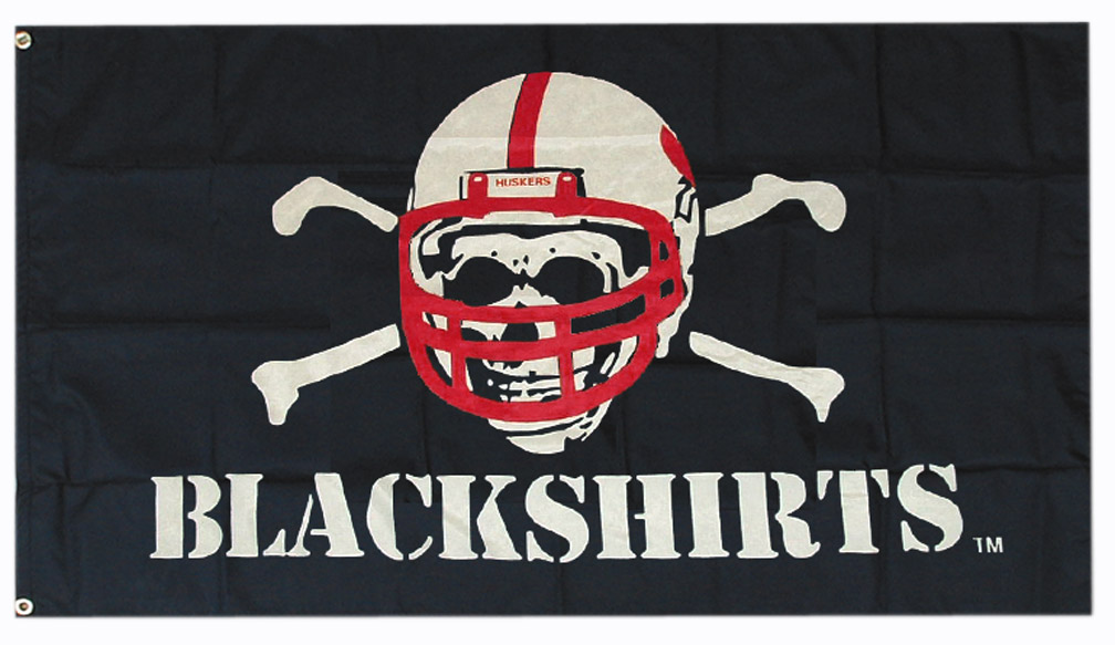 Blackshirts Flag Nebraska Cornhuskers, Blackshirts Flag