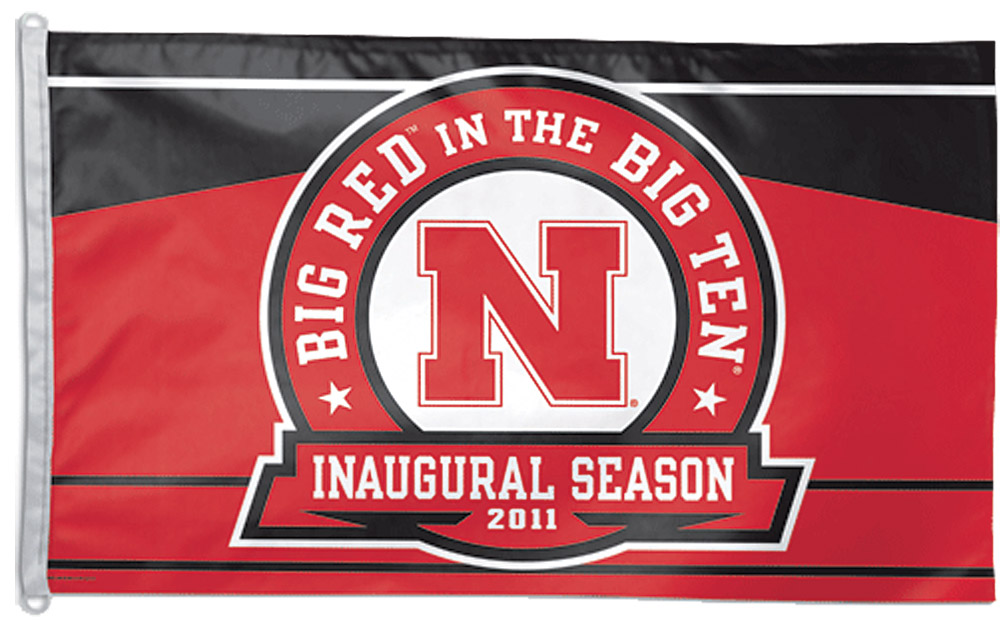BIG RED IN BIG TEN FLAG Nebraska Cornhuskers, BIG RED IN BIG TEN FLAG