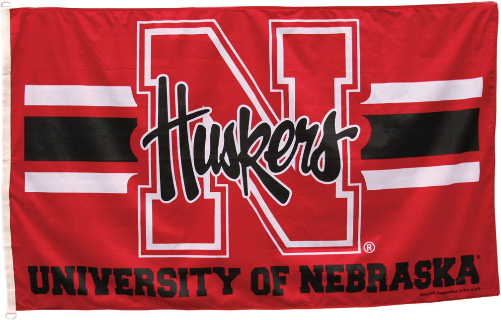 Nebraska Striped Flag Nebraska Cornhuskers, Nebraska Striped Flag