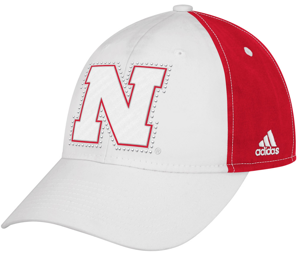 Adidas Adjustable Slouch Rhinestone husker football, nebraska merchandise, husker merchandise, nebraska cornhuskers apparel, husker apparel, nebraska apparel, husker hats, nebraska hats, nebraska caps, husker caps, Nebraska Cornhuskers, Adidas Adjustable Slouch Rhinestone