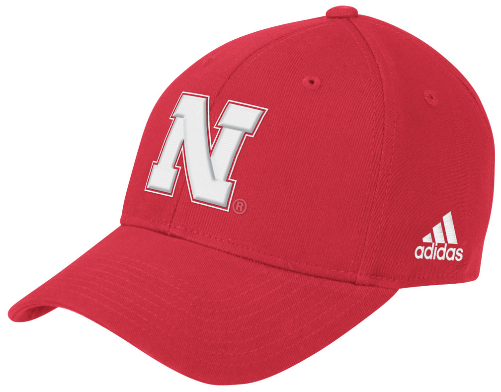 Adidas Bl Structured Adjustable -Red husker football, nebraska merchandise, husker merchandise, nebraska cornhuskers apparel, husker apparel, nebraska apparel, husker hats, nebraska hats, nebraska caps, husker caps, Nebraska Cornhuskers, Adidas Bl Structured Adjustable -Red
