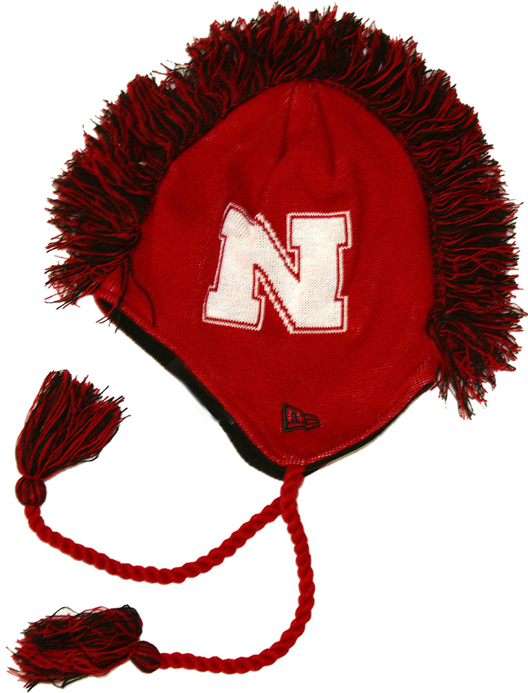 New Era Red Knit Mohawk N Graphic husker football, nebraska merchandise, husker merchandise, nebraska cornhuskers apparel, husker apparel, nebraska apparel, husker hats, nebraska hats, nebraska caps, husker caps, Nebraska Cornhuskers, New Era Red Knit Mohawk N Graphic