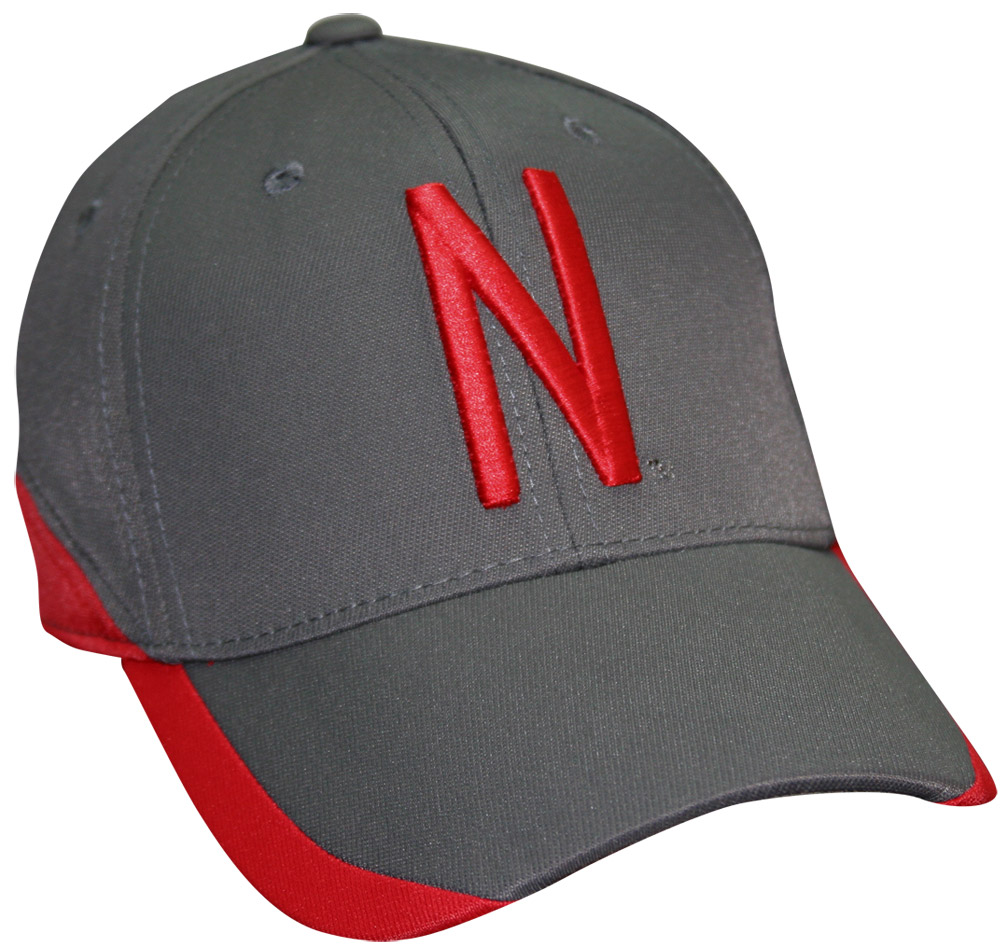 Skinny N Grey With Red Outline Graphite Hat husker football, nebraska merchandise, husker merchandise, nebraska cornhuskers apparel, husker apparel, nebraska apparel, husker hats, nebraska hats, nebraska caps, husker caps, Nebraska Cornhuskers, Skinny N Grey With Red Outline Graphite Hat